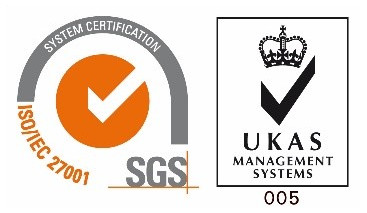 ISO 27001 ( certificate from UKAS )