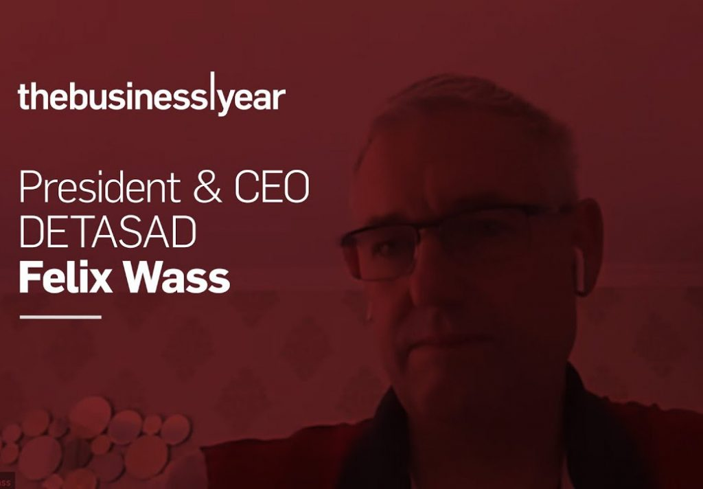 The Business Year Magazine video interview with DETASAD President & CEO Mr. Felix Wass .video